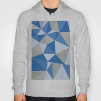 Blue & Gray Geometric Hoody