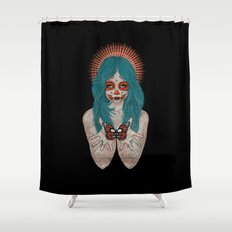 Santa Muerte Shower Curtain