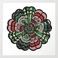 flowing floral Art Print