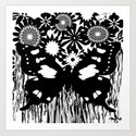 Toile Butterfly Art Print