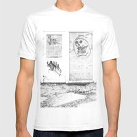 Death's Newspaper Booth Mens Fitted Tee White SMALL