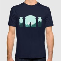 Time Traveler Mens Fitted Tee Navy SMALL