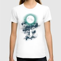 moon T-shirts featuring Burn the midnight oil  by Picomodi