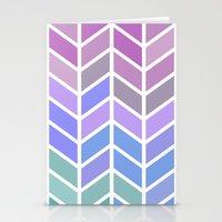 blue & purple chevron Stationery Cards