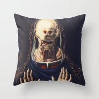 Pale Man With Crown Throw Pillow