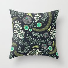 Winter's Eve Floral Throw Pillow
