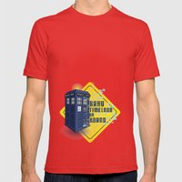Doctor Who Tardis - Baby Timelord on Board Mens Fitted Tee Red SMALL