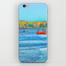Abstract summer fun and surf rescue boat iPhone & iPod Skin