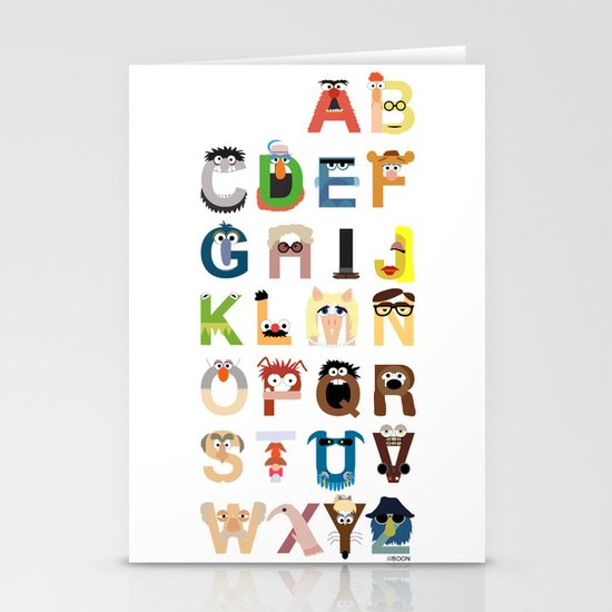 Muppet Alphabet Stationery Card