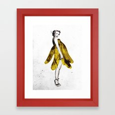 a lady's dream Framed Art Print