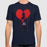 My Heart Is In NJ Unite … Mens Fitted Tee Navy SMALL