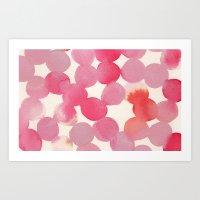 pink watercolour Art Print