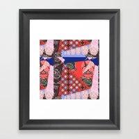 Girly_pattern_toxic_cute… Framed Art Print
