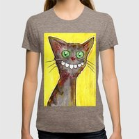 Derp Cat Womens Fitted Tee Tri-Coffee SMALL