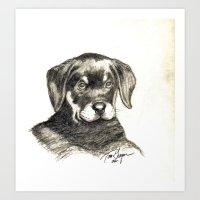 Pencil/Charcoal 2 Art Print