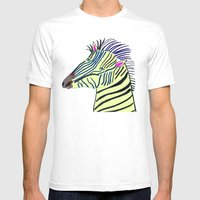 Zebra. Mens Fitted Tee White SMALL