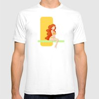 Cute Red Head Pin-up / M… Mens Fitted Tee White SMALL