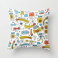 Chasing Stars And Puttin… Throw Pillow