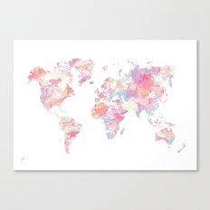 Watercolour World Map (p… Canvas Print