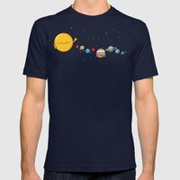 Planets Mens Fitted Tee Navy SMALL