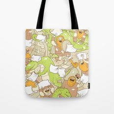 Vikings vs Dragons Tote Bag