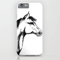iPhone & iPod Case featuring 'Another Horse Profile' by Ave Hurley by ArtRaveSuperCenter: Ave Hurley Illustrat