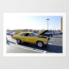 Yellow Car Art Print