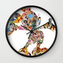 Mickey Mouse Silhouette  Wall Clock