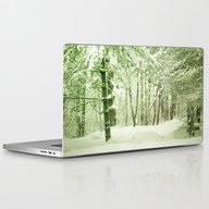 Winter Pine Trees Laptop & iPad Skin