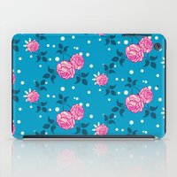 Roses on blue iPad Case