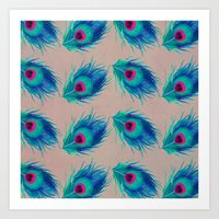Peacock Feathers No.2 Art Print