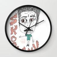 SKOOL SUX / SUMMR 4EVER Wall Clock