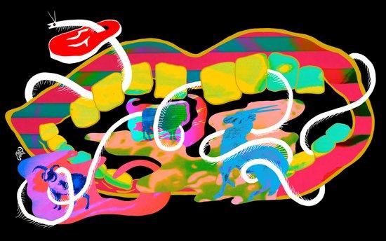 """Centipede Hz"" by Steven Fiche Canvas Print"