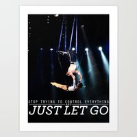 Just Let Go Art Print