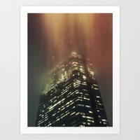 Misty Tower Art Print