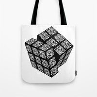 Qr Cube Tote Bag