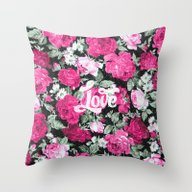 Vintage Chic Floral Pink… Throw Pillow