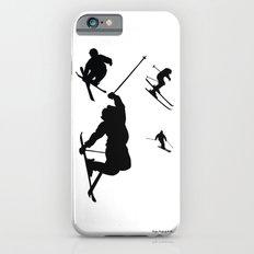 Skiing silhouettes iPhone 6 Slim Case