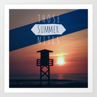 Those Summer Nights (Rep… Art Print