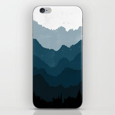 Mists No. 6 - Ombre Blue Ridge Mountains Art Print  iPhone & iPod Skin