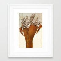 Gladiolous Framed Art Print