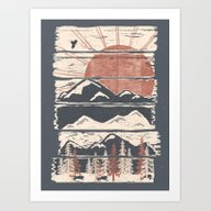 Winter Pursuits... Art Print