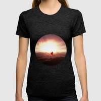 Ad lucem (Towards the light) Version 2 Womens Fitted Tee Tri-Black SMALL