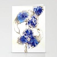 Oiseaux Bleu Stationery Cards