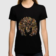 Super Walking Dead: High… Womens Fitted Tee Black SMALL