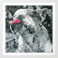 Rufus The Bulldog Art Print