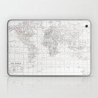 World Map ~ White on White Laptop & iPad Skin