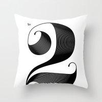 No. 2 Throw Pillow