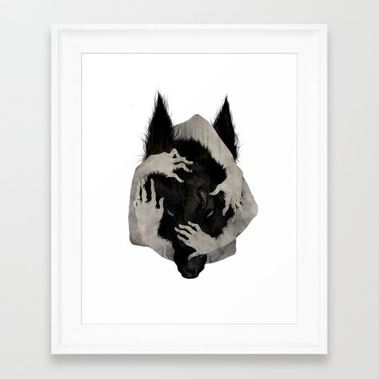 Wild Dog Framed Art Print