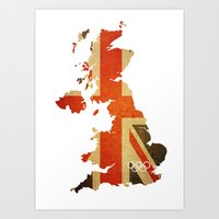 Union Jack Map - Olympic… Art Print